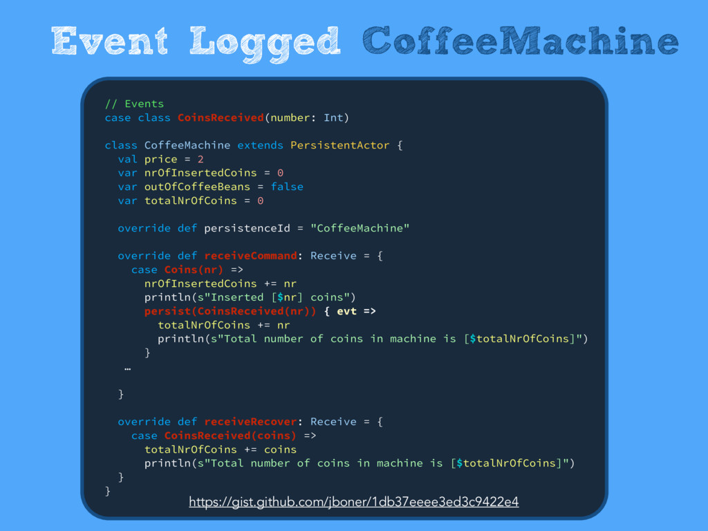 Event Logged CoffeeMachine // Events case clas...