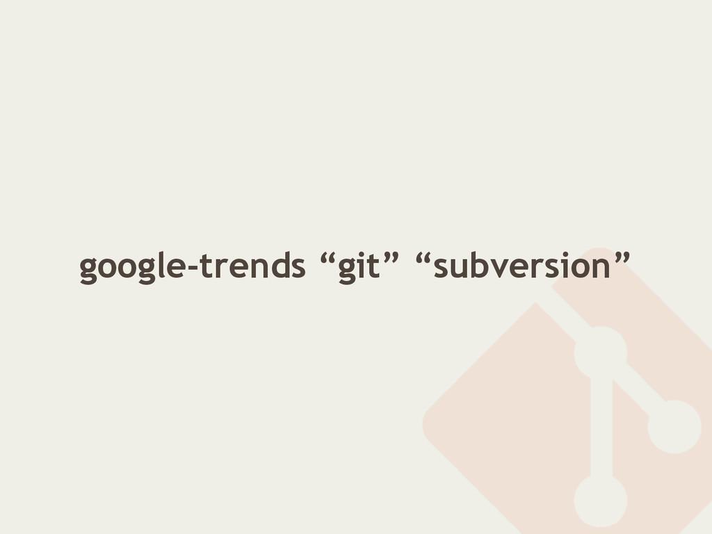 "google-trends ""git"" ""subversion"""