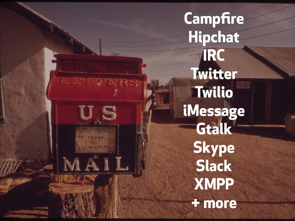 Campfire Hipchat IRC Twitter Twilio iMessage Gta...