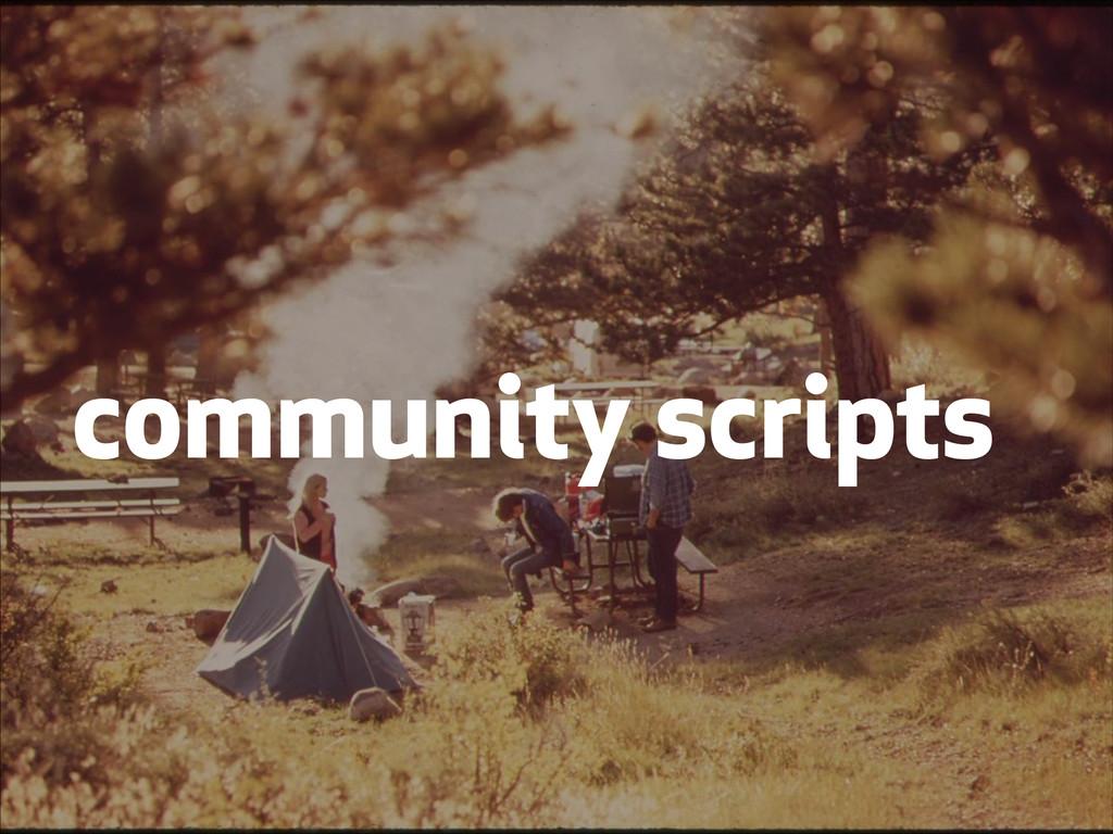 community scripts