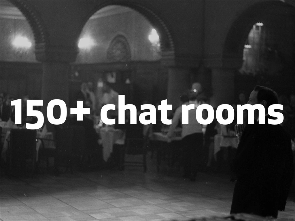 150+ chat rooms