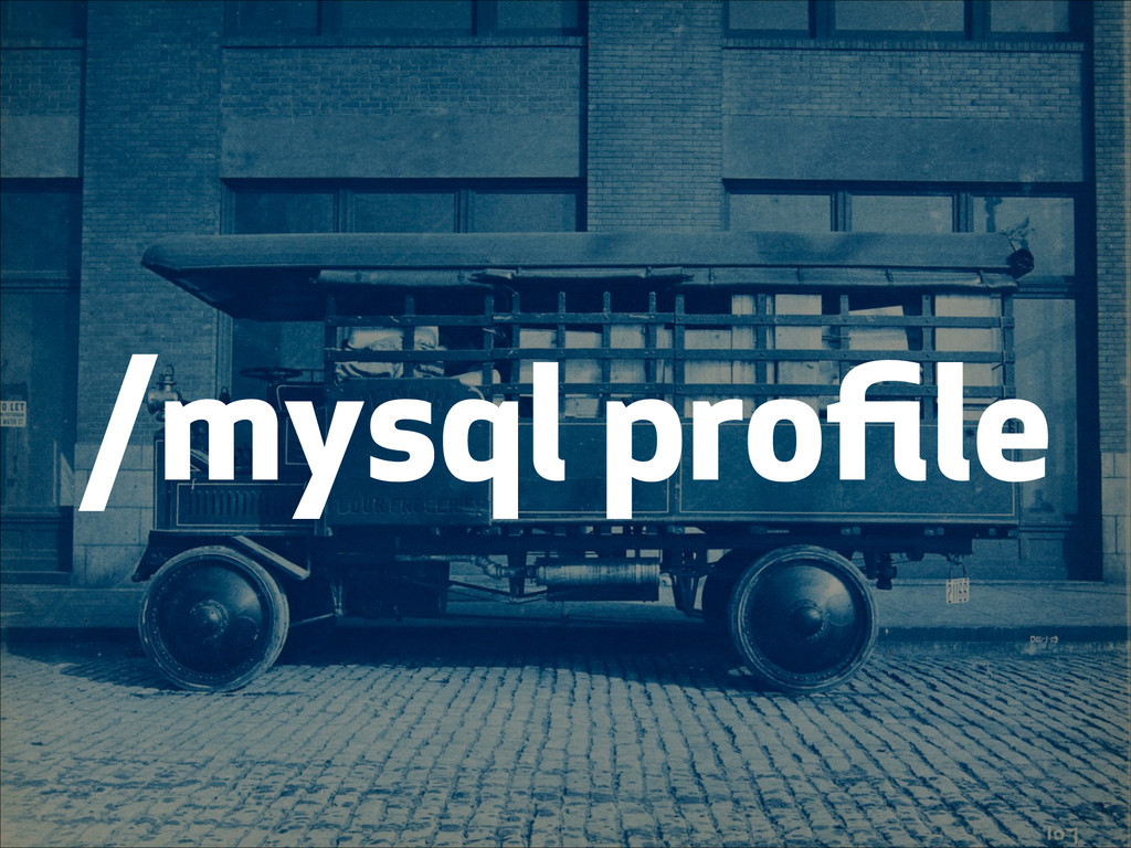 /mysql profile