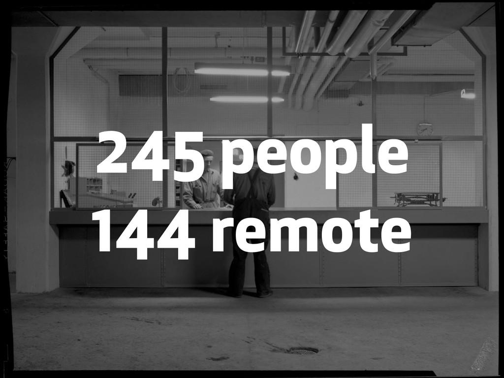 245 people 144 remote
