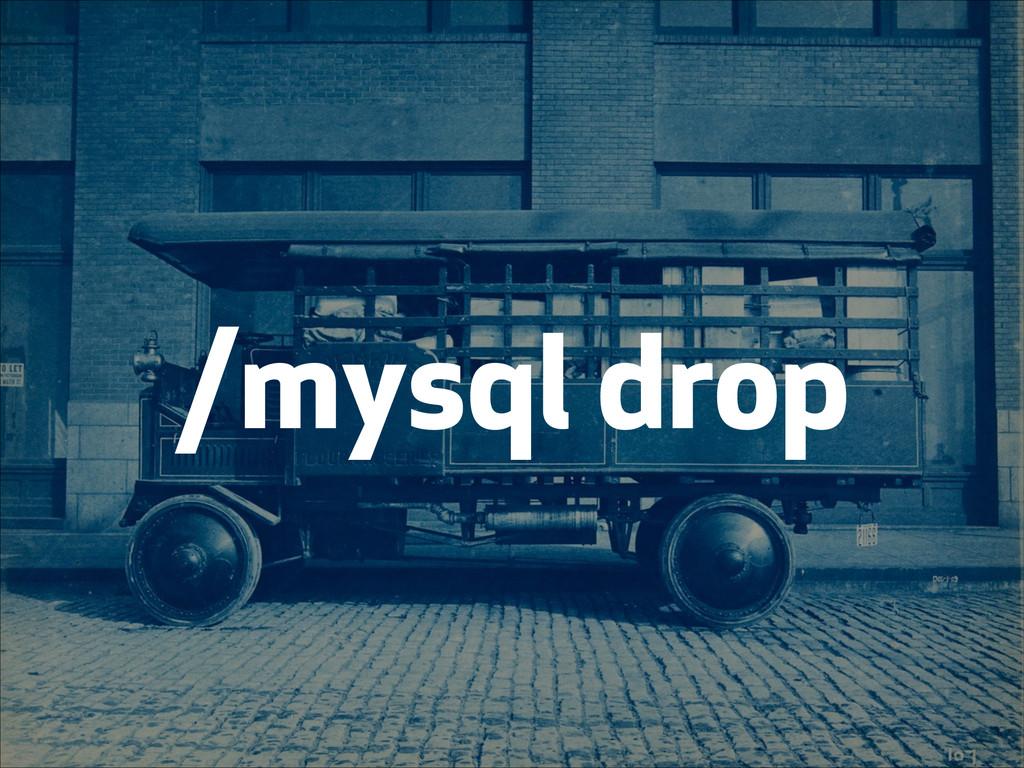 /mysql drop