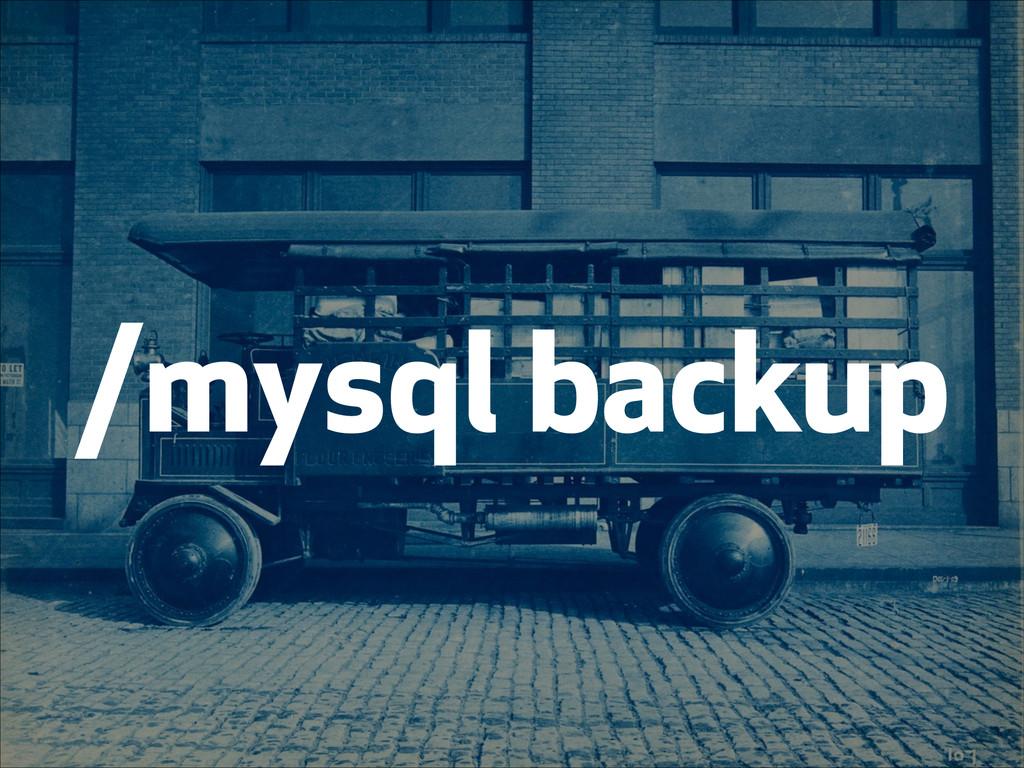 /mysql backup