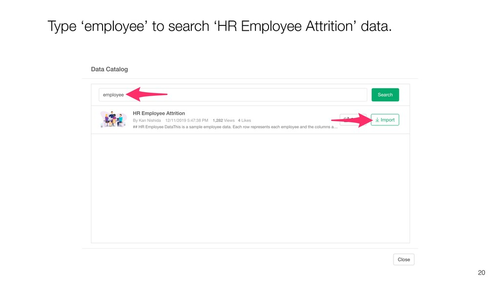 20 Type 'employee' to search 'HR Employee Attri...