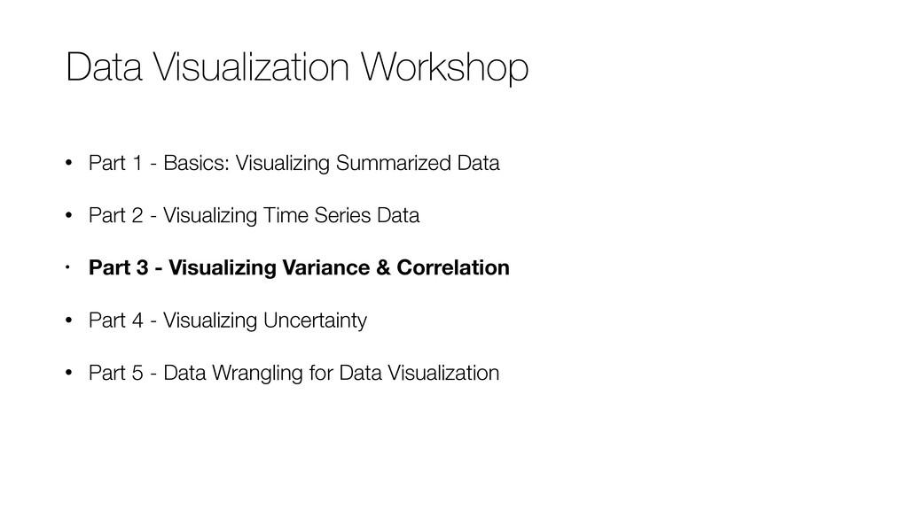 • Part 1 - Basics: Visualizing Summarized Data ...