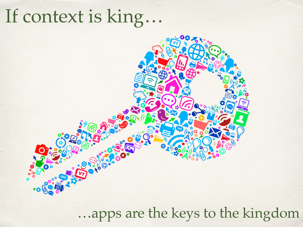 If context is king… …apps are the keys to the k...