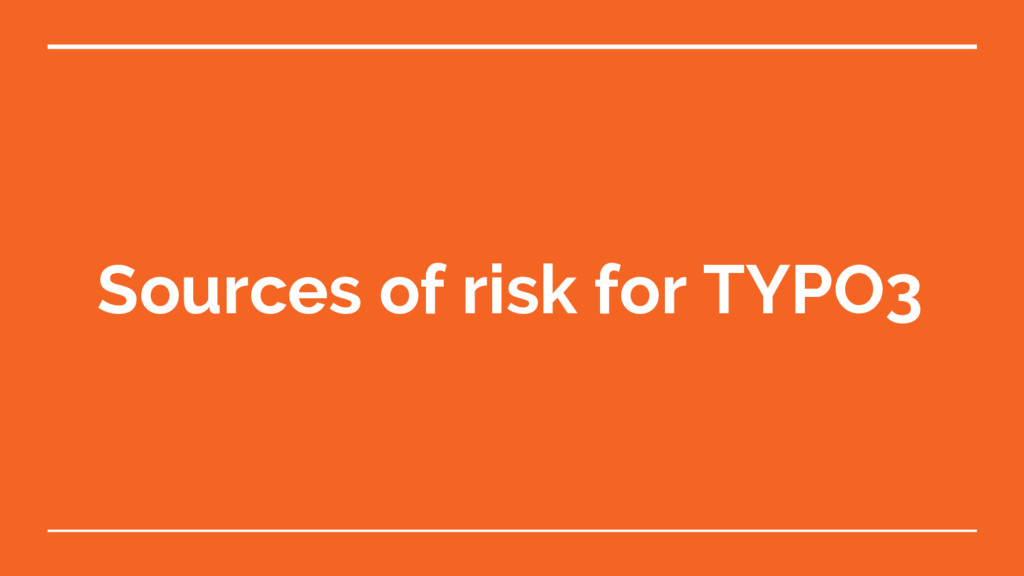 Sources of risk for TYPO3