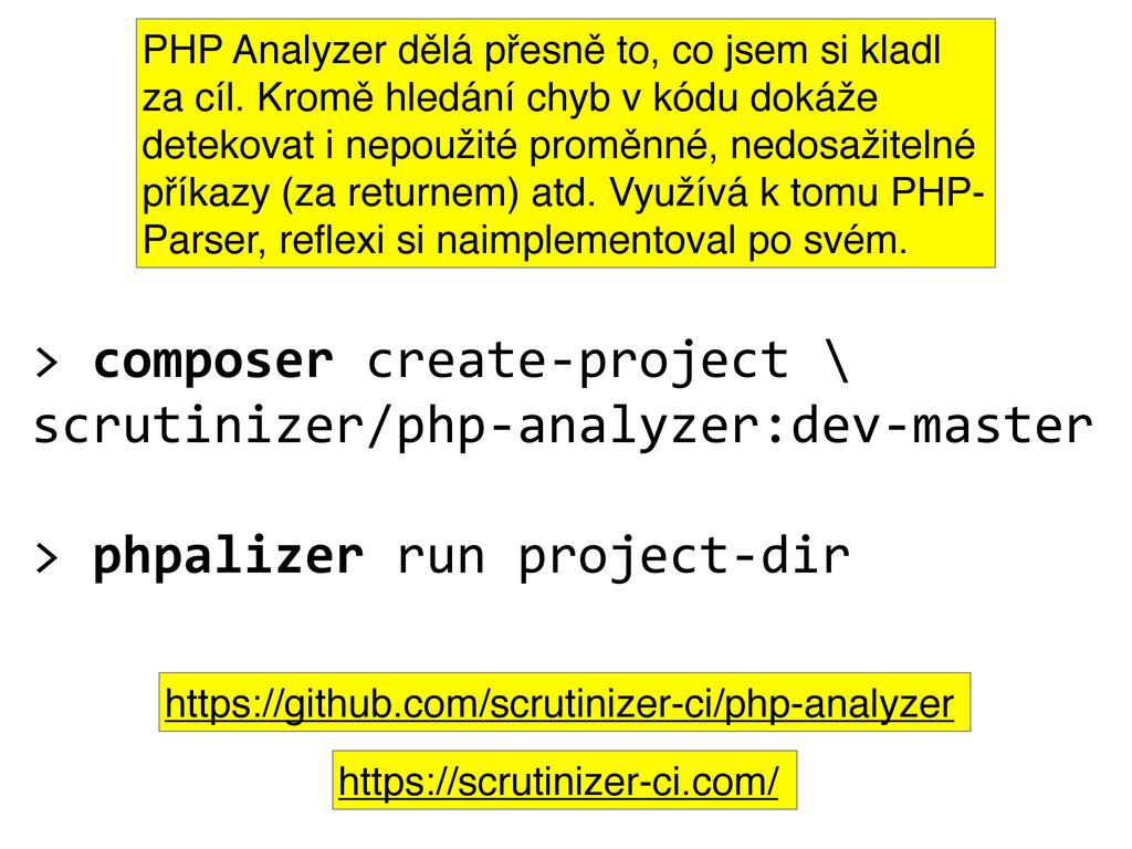 > composer create-‐project \ scrutini...