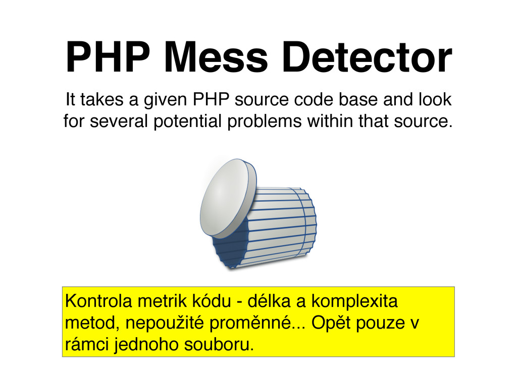 It takes a given PHP source code base and look ...