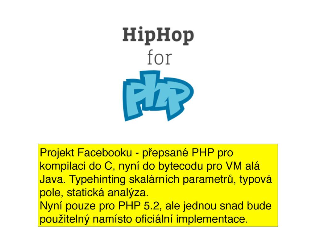 Projekt Facebooku - přepsané PHP pro kompilaci ...