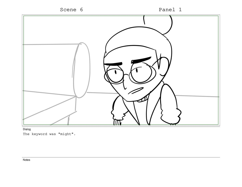 """Scene 6 Panel 1 Dialog The keyword was """"might""""...."""