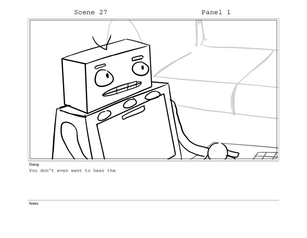 Scene 27 Panel 1 Dialog You don't even want to ...