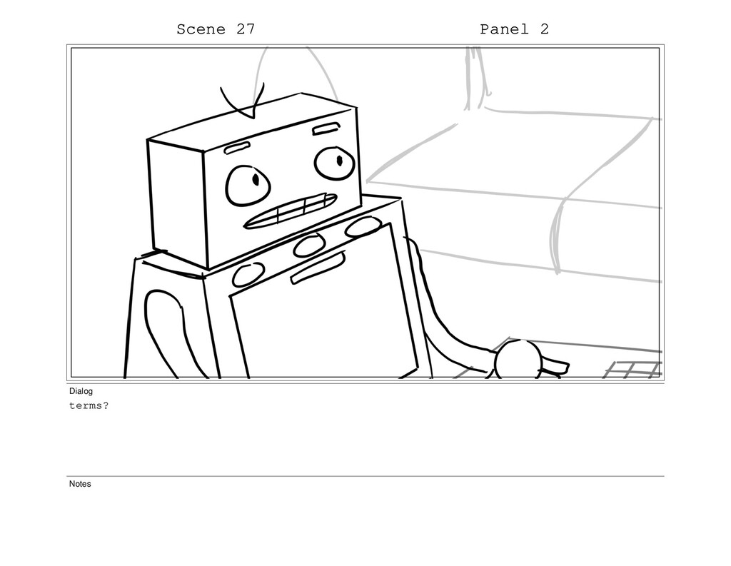 Scene 27 Panel 2 Dialog terms? Notes