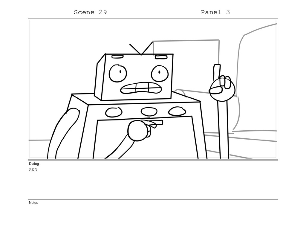 Scene 29 Panel 3 Dialog AND Notes