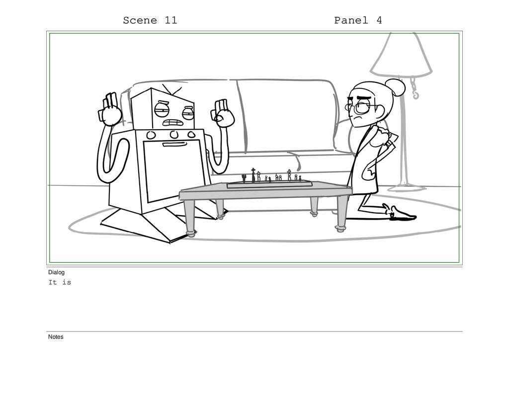 Scene 11 Panel 4 Dialog It is Notes