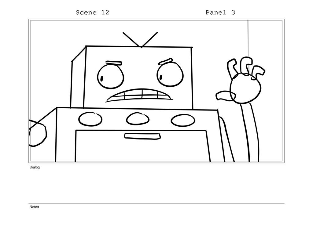 Scene 12 Panel 3 Dialog Notes