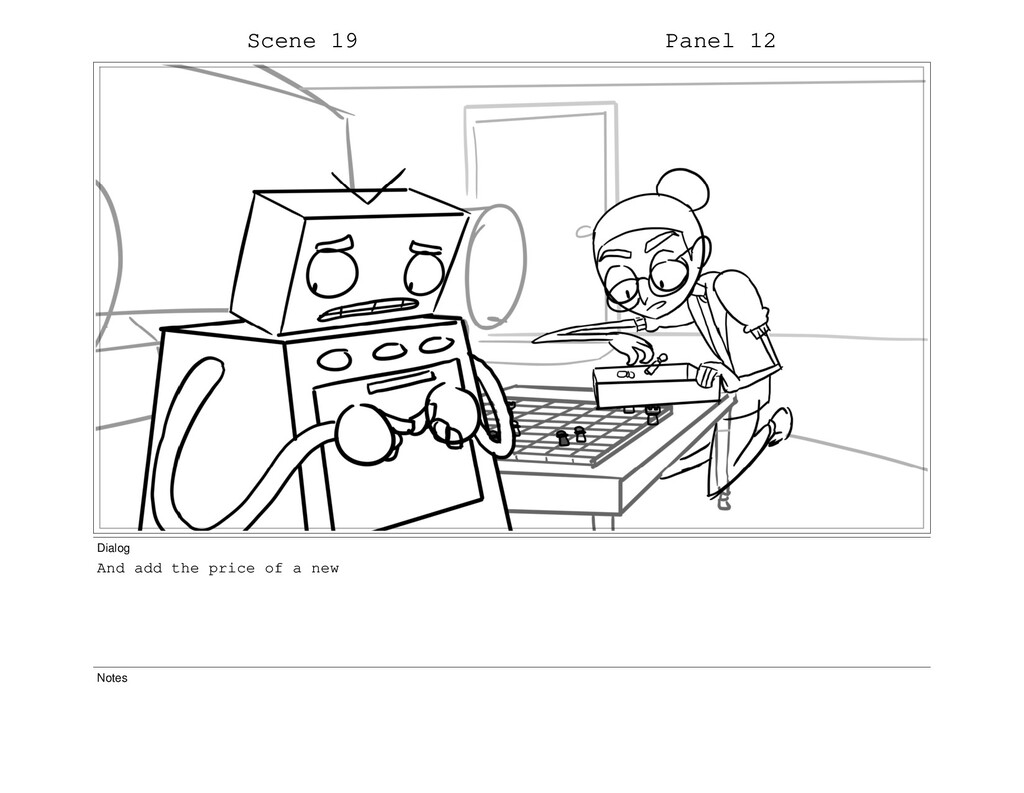 Scene 19 Panel 12 Dialog And add the price of a...