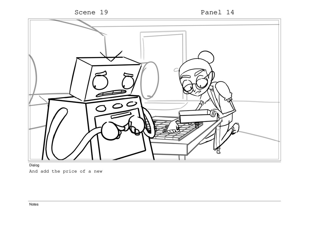 Scene 19 Panel 14 Dialog And add the price of a...