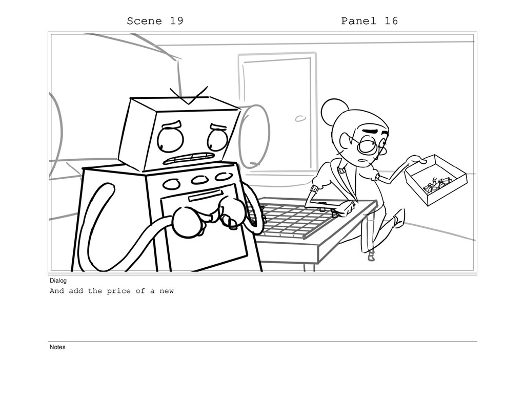 Scene 19 Panel 16 Dialog And add the price of a...