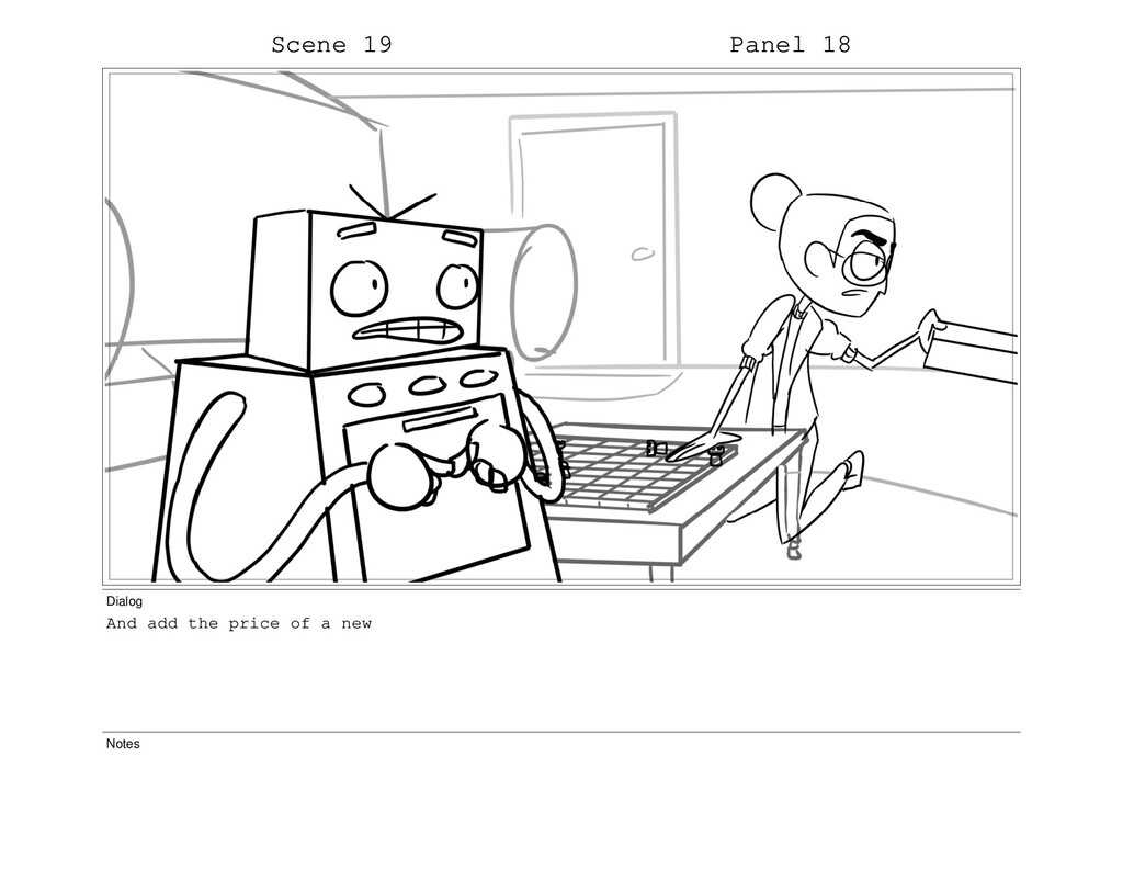 Scene 19 Panel 18 Dialog And add the price of a...