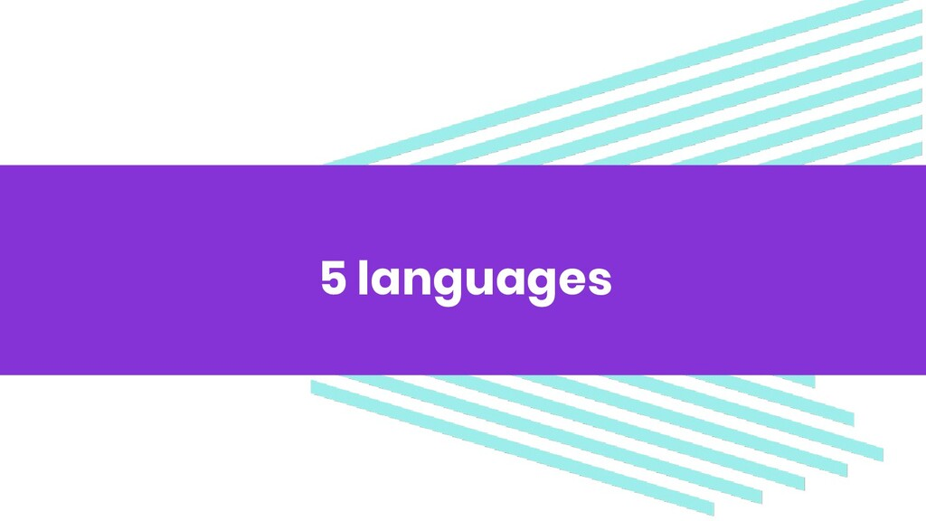 5 languages