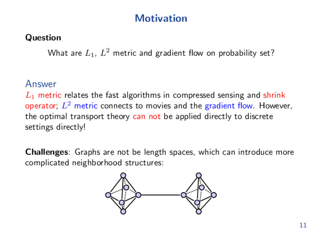 Motivation Question What are L1 , L2 metric and...