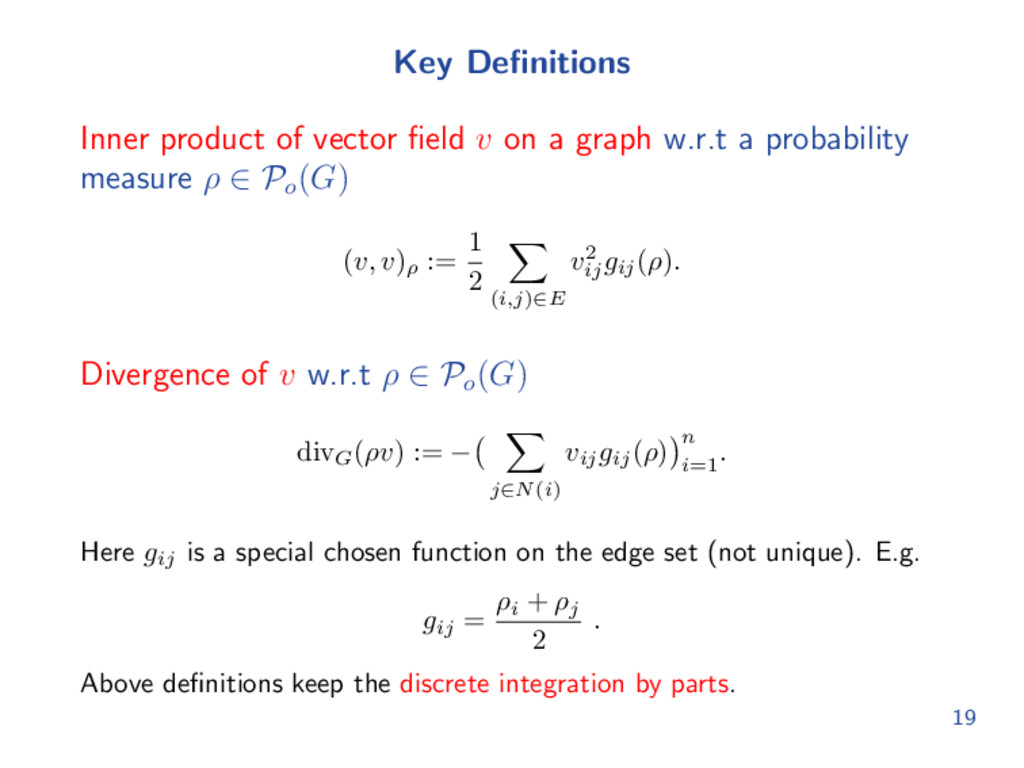 Key Definitions Inner product of vector field v o...