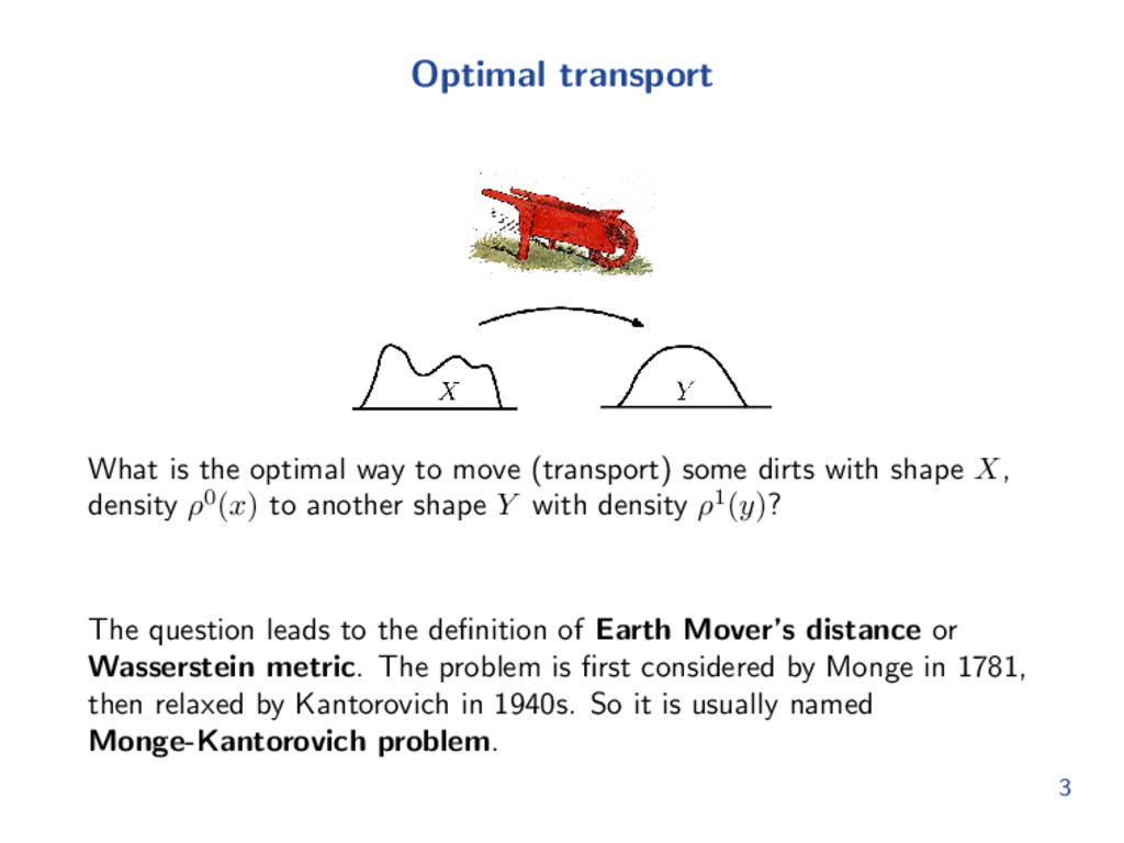 Optimal transport What is the optimal way to mo...