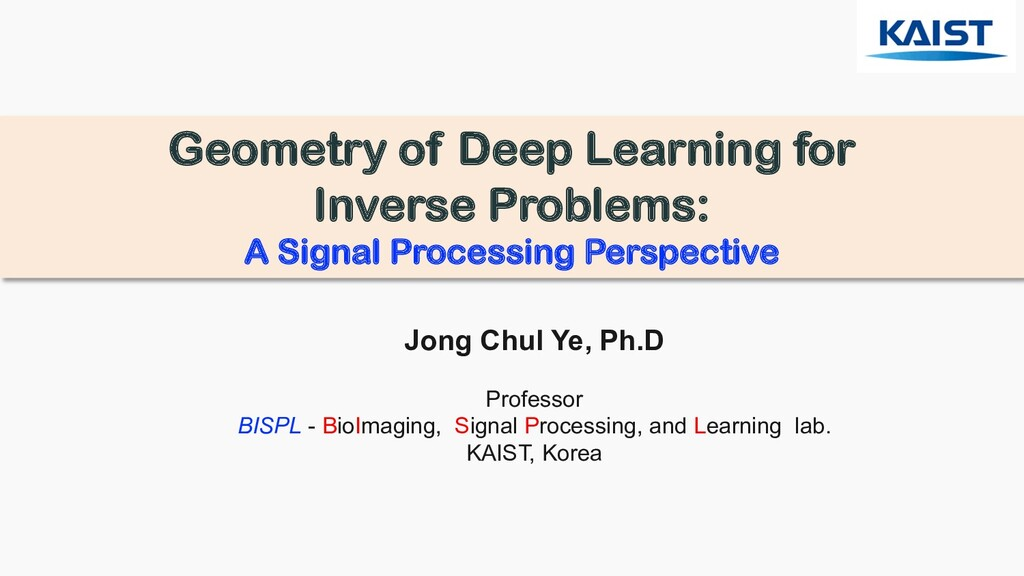 Geometry of Deep Learning for Inverse Problems:...