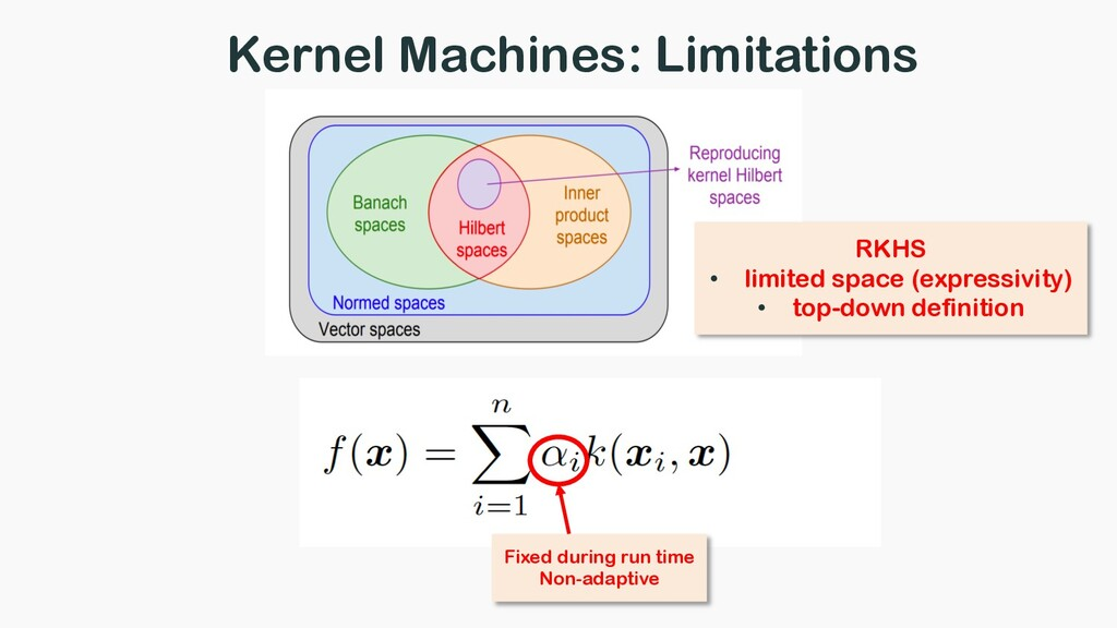 Kernel Machines: Limitations Fixed during run t...