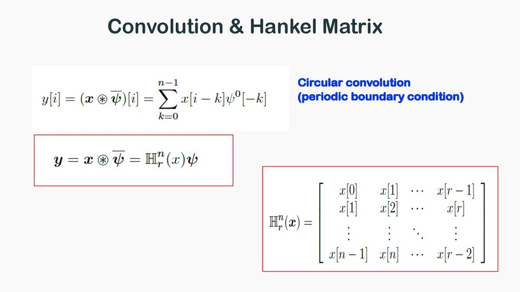 Convolution & Hankel Matrix Circular convolutio...
