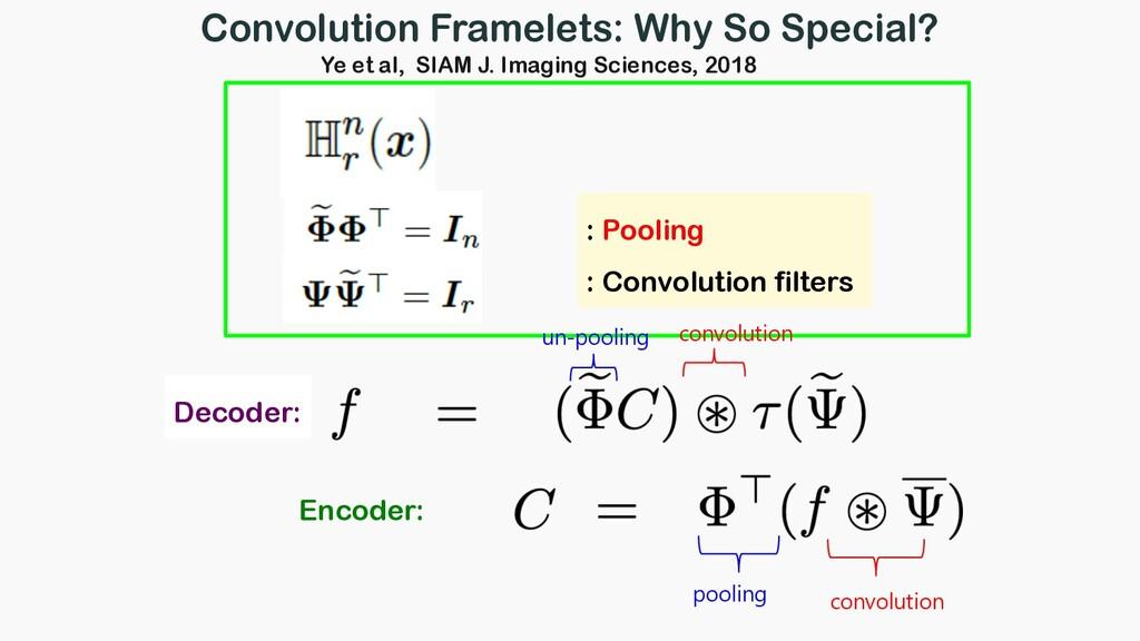 : Pooling : Convolution filters Encoder: convol...
