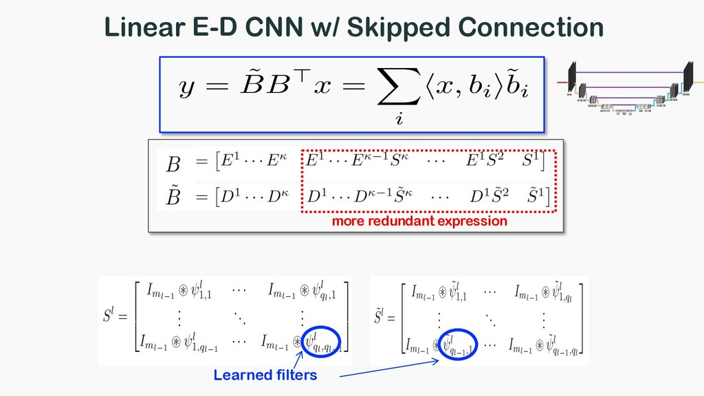Linear E-D CNN w/ Skipped Connection more redun...