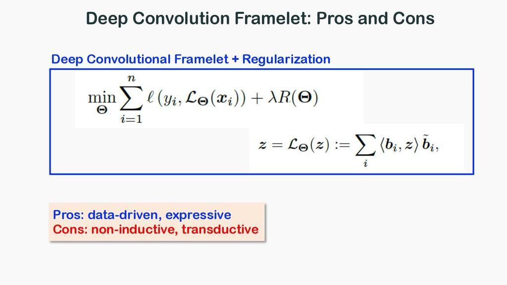 Deep Convolution Framelet: Pros and Cons Deep C...