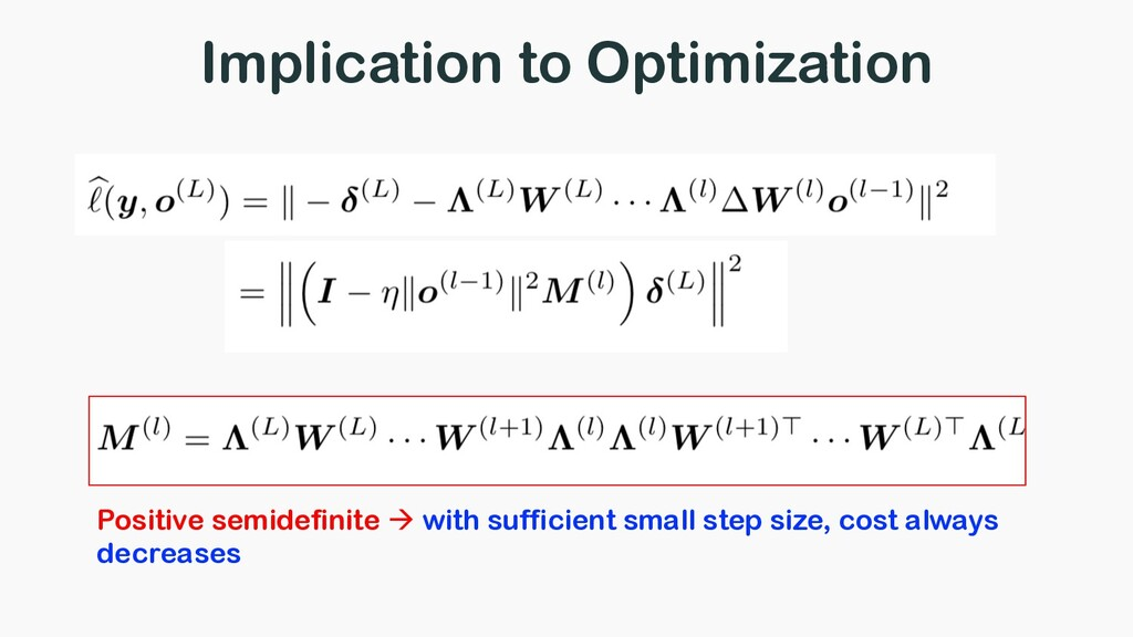 Implication to Optimization Positive semidefini...