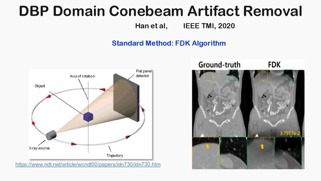 DBP Domain Conebeam Artifact Removal Han et al,...