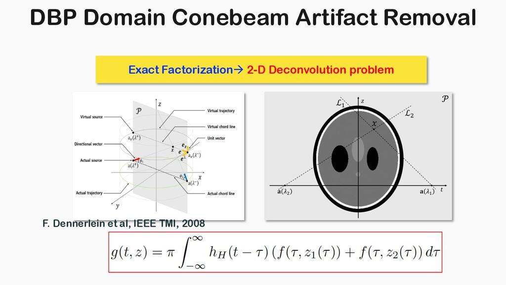 DBP Domain Conebeam Artifact Removal Exact Fact...