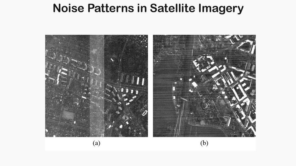 Noise Patterns in Satellite Imagery