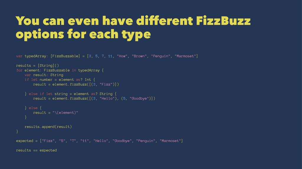You can even have different FizzBuzz options fo...