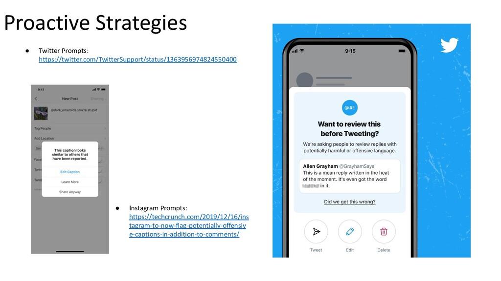 Proactive Strategies ● Twitter Prompts: https:/...