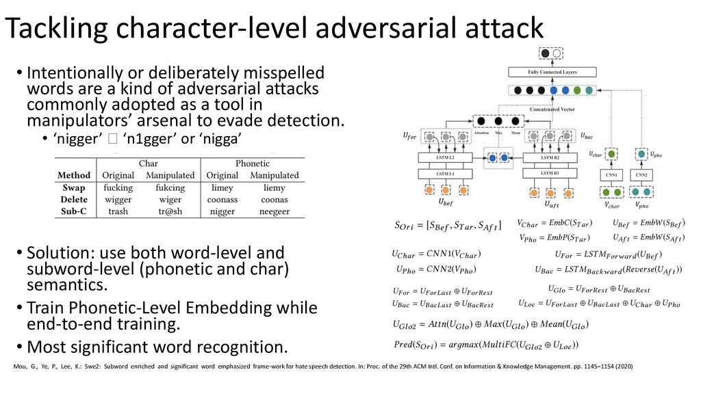 Tackling character-level adversarial attack • I...