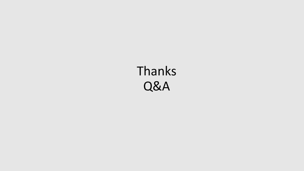 Thanks Q&A