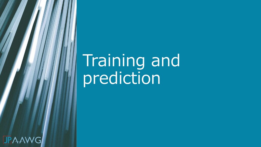 Training and prediction