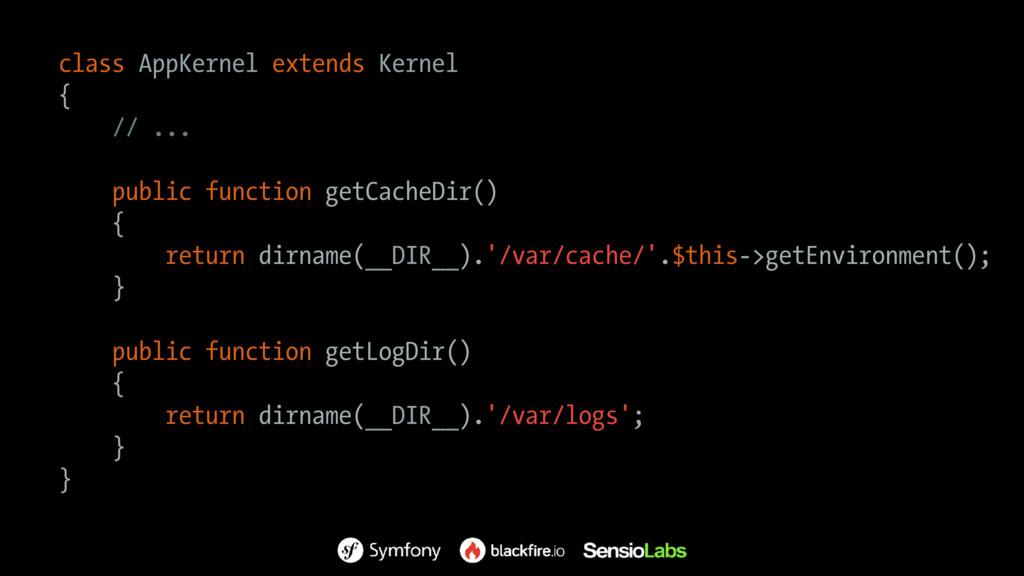 class AppKernel extends Kernel { // ... public ...