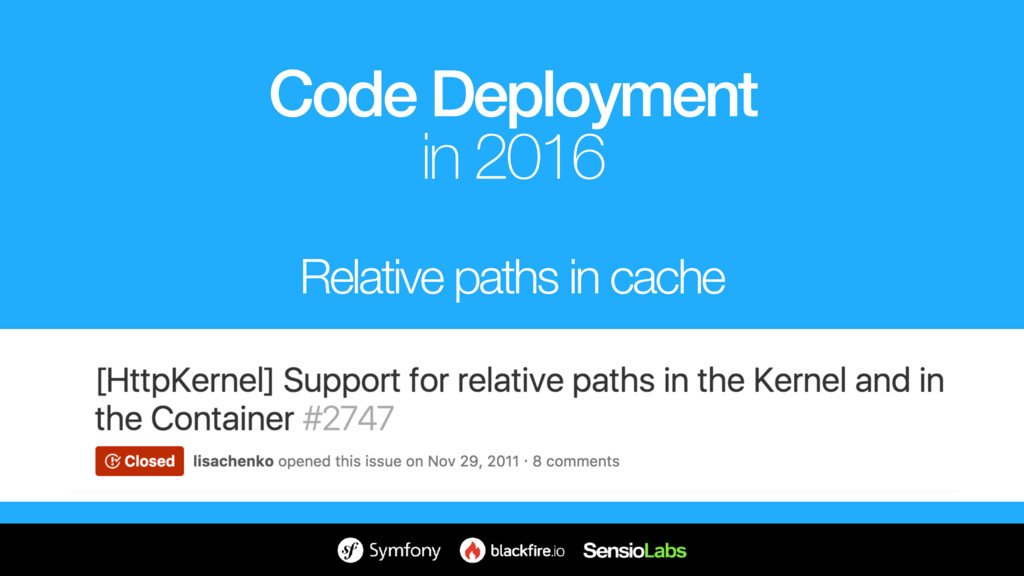 Relative paths in cache Code Deployment in 2016