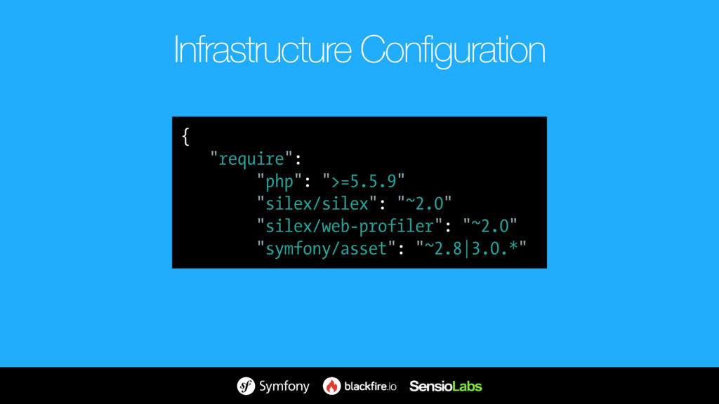 """Infrastructure Configuration { """"require"""": { """"..."""
