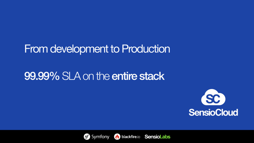 From development to Production  99.99% SLA on t...