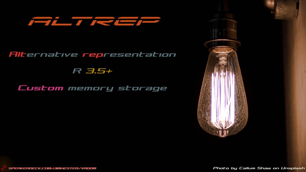 SPEAKERDECK.COM/JIMHESTER/VROOM Photo by Callum...